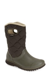 Women's Bogs 'Juno' Waterproof Quilted Snow Boot Dark Green