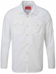 Craghoppers Nosilife Advanced Long Sleeved Shirt White