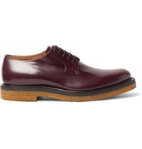 Dries Van Noten Leather Derby Shoes Burgundy