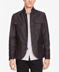 Kenneth Cole New York Men's Contemporary Pinstriped Jacket Black Combo