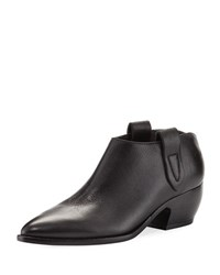 Sigerson Morrison Dorie Leather Ankle Boot Black