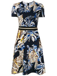 Stella Mccartney Cat Print A Line Dress Multicolour