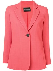 Emporio Armani Single Button Blazer Pink