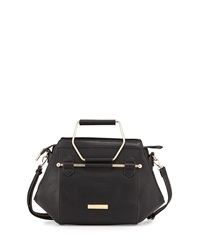 Catherine Catherine Malandrino Jennifer Hexagon Faux Leather Satchel Black