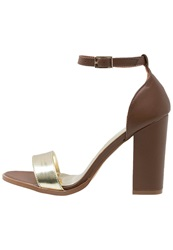 Wallis Saada High Heeled Sandals Tan Cognac