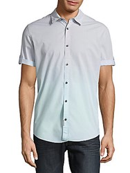 Calvin Klein Ombre Cotton Shirt Sea Crystal