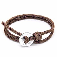 Anchor And Crew Brown Lerwick Silver Rope Bracelet