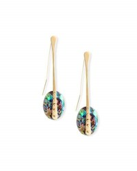 Lisa Eisner Jewelry Abalone Teardrop Earrings Blue