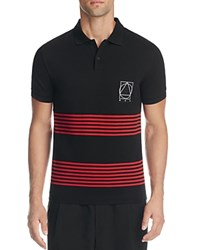 Mcq By Alexander Mcqueen Striped Slim Fit Polo Stripe Black Red