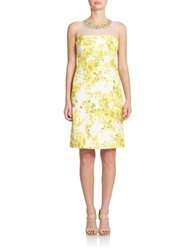 Teri Jon Embellished Sheath Dress Yellow