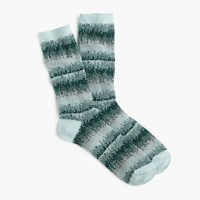 J.Crew Pixelated Fair Isle Socks Icy Blue