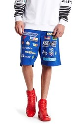 Moschino Front Pattern Short Blue