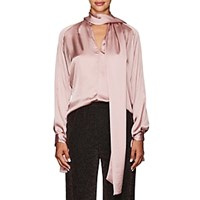 Juan Carlos Obando Washed Satin Blouse Mauve