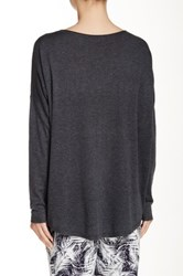 Splendid Scoop Neck Hi Lo Sweater Black