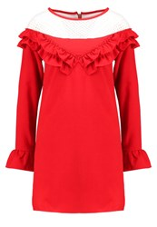 Navy London Eve Summer Dress Red