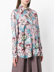 Department 5 Floral Print Shirt Pink And Purple