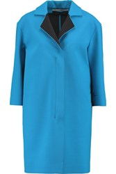 Roland Mouret Paddington Wool Cocoon Coat Blue