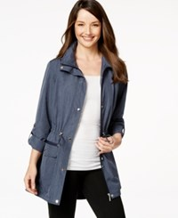 Styleandco. Style And Co. Sport Cinch Waist Hooded Anorak Only At Macy's