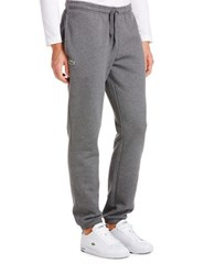 Lacoste Solid Sweatpants With Drawstring Grey