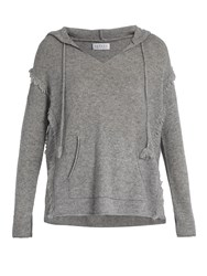 Velvet By Graham And Spencer Jacqueline Hooded Cashmere Top Grey