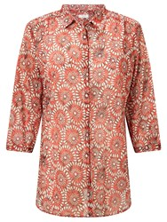 Gerry Weber 3 4 Sleeve Printed Shirt Red White