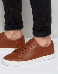 Asos Lace Up Trainers In Tan Tan