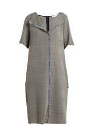 Golden Goose Luciana Prince Of Wales Checked Dress Grey White