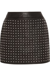 Mcq By Alexander Mcqueen Studded Textured Leather Mini Skirt Black