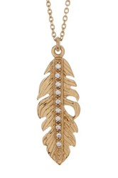 Melinda Maria Mini Nina Feather Necklace Metallic