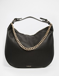 Lipsy Black Slouch Hobo Bag With Chain