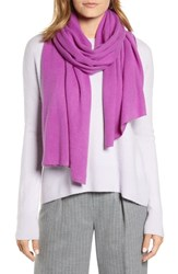 Halogen Solid Cashmere Scarf Purple Sparkle