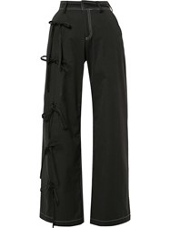 Blindness Side Bow Detail Trousers Black