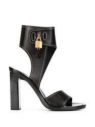 Tom Ford Padlock Open Toe Sandals Black