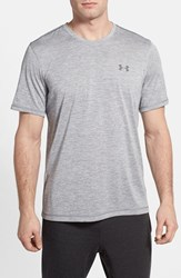 Men's Under Armour 'Ua Tech' Loose Fit Short Sleeve V Neck T Shirt Steel Graphite
