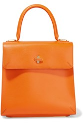 Charlotte Olympia Bogart Textured Leather Tote Orange
