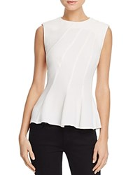 French Connection Modern Kantha Peplum Top Summer White