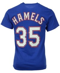 Majestic Men's Cole Hamels Texas Rangers Official Player T Shirt Royalblue