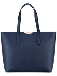Twin Set Logo Plaque Tote Blue