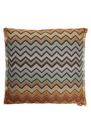 Missoni Home Westmeath Zigzag Cotton Blend Jacquard Cushion Multi