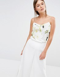 Ted Baker Grenata Cami In Pearly Petal Print 07 Ash Grey