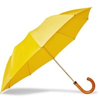 London Undercover Maple Wood Handle Twill Umbrella Yellow