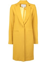 Milly Elongated Design Jacket Yellow And Orange