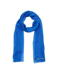 Blumarine Oblong Scarves Bright Blue