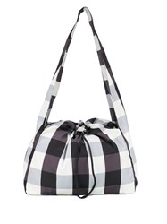 Kara Cloud Gingham Shoulder Bag Black