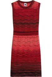 M Missoni Crochet Knit Dress Coral