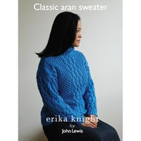 Erika Knight For John Lewis Classic Aran Sweater Knitting Pattern
