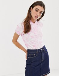 Fred Perry Tie Dye Polo Shirt Pink