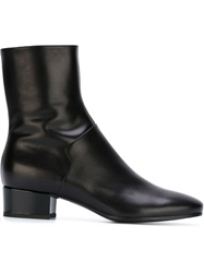 Carritz Low Chunky Heel Boots Black