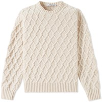 Inis Meain Trellis Cable Crew Knit Neutrals