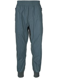 Wooyoungmi Cargo Pocket Track Pants Blue